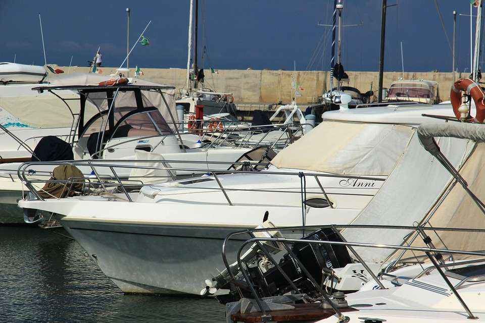 boats in harbor